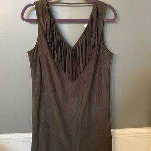 C. Luce velvet dress Greeny/brown size medium